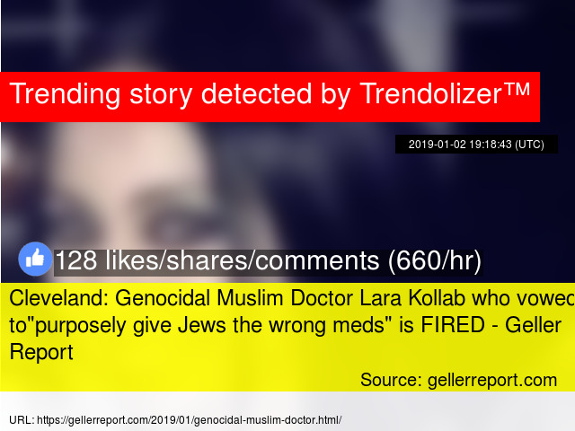 Cleveland: Genocidal Muslim Doctor Lara Kollab who vowed