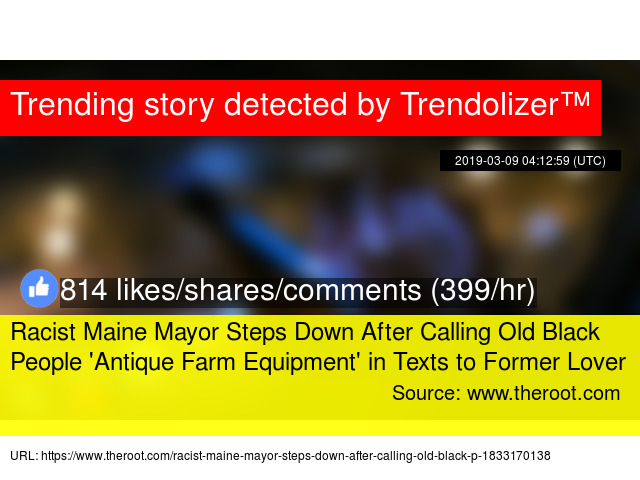 Racist Maine Mayor Steps Down After Calling Old Black People '