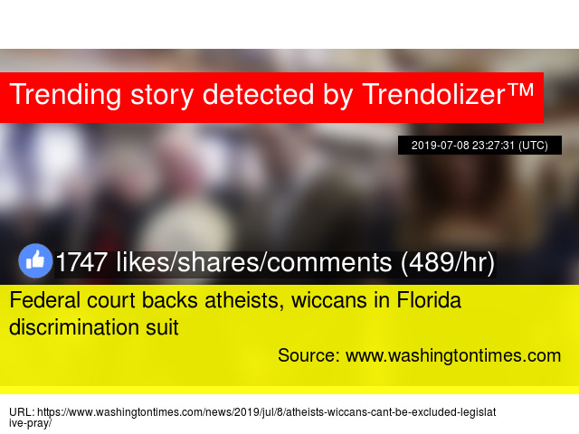 Federal court backs atheists, wiccans in Florida