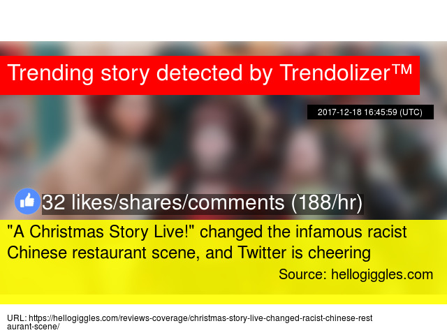 a christmas story live changed the infamous racist chinese restaurant scene and twitter is cheering